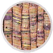 Textile Background Round Beach Towel