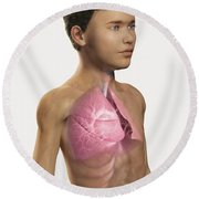 The Lungs Within The Body Pre-adolescent Round Beach Towel