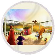 The Palace Balcony Round Beach Towel