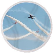 The Red Arrows Eastbourne Round Beach Towel