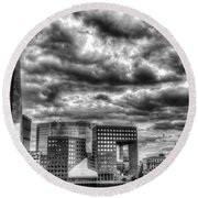The Shard And South Bank Round Beach Towel