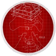 Thumb Wrestling Game Patent 1991 - Red Round Beach Towel