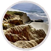 Torrey Pines State Park - California Round Beach Towel