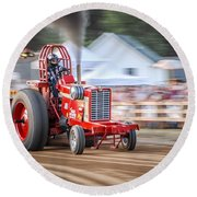 Tractor Pull Round Beach Towel