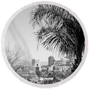 Tucson Az Skyline Round Beach Towel