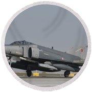 Turkish Air Force F-4 Phantom At Konya Round Beach Towel
