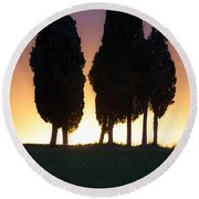 Tuscany - Val D'orcia Round Beach Towel