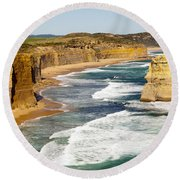 Twelve Apostles Round Beach Towel