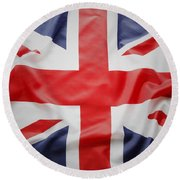 Uk Flag Round Beach Towel