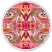 Valley Porcupine Abstract Round Beach Towel