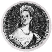 Victoria Of England (1819-1901) Round Beach Towel