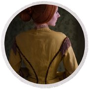 Victorian Woman  Round Beach Towel
