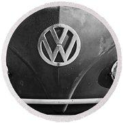 Volkswagen Vw Bus Front Emblem Round Beach Towel