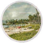 Wailea Beach Maui Hawaii Round Beach Towel by Sharon Mau