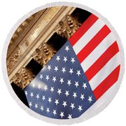 Wall Street Flag Round Beach Towel