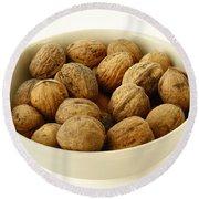 Walnuts Round Beach Towel