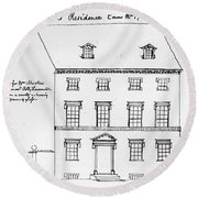 Washington Residence Round Beach Towel