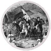 Washington Trenton, 1789 Round Beach Towel