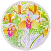 Laughing Watercolor Photography Round Beach Towel