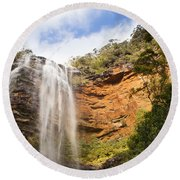 Wentworth Falls Blue Mountains Round Beach Towel