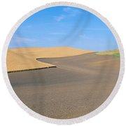 Wheat Fields, S.e. Washington Round Beach Towel