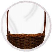 Wicker Basket Number Ten Round Beach Towel