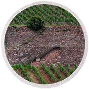 Wine Of Rhine Round Beach Towel