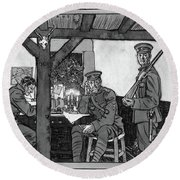 Wwi Soldiers, 1918 Round Beach Towel