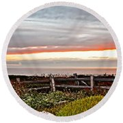 Yachats Oregon Round Beach Towel