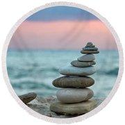 Zen Round Beach Towel by Stelios Kleanthous
