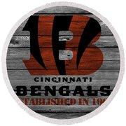 Cincinnati Bengals Round Beach Towel