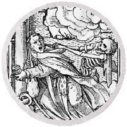 Dance Of Death, 1538 Round Beach Towel