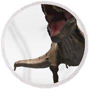 Dinosaur Tyrannosaurus Round Beach Towel