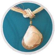 Aphrodite Urania Necklace Round Beach Towel by Augusta Stylianou