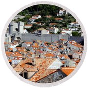 Views Of Dubrovnik Croatia Round Beach Towel