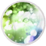 Abstract Circles 51 Round Beach Towel