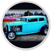 32 Ford Victoria Two Door Round Beach Towel