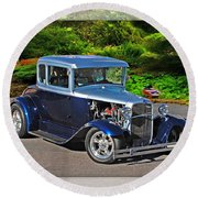 32 Ford Round Beach Towel