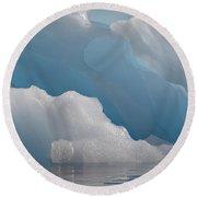 Iceberg, Antarctica Round Beach Towel