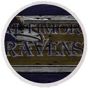 Baltimore Ravens Round Beach Towel