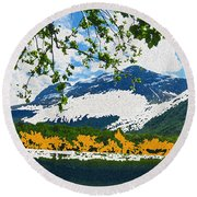Norway  Landscape Round Beach Towel