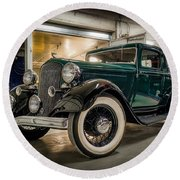 '33 Plymouth Round Beach Towel