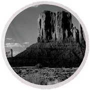 Rock Formations On A Landscape Round Beach Towel