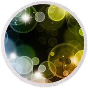 Abstract Background Round Beach Towel by Les Cunliffe