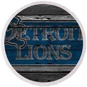 Detroit Lions Round Beach Towel