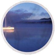 3525-0188-18, Misty Lake Tremblant Round Beach Towel