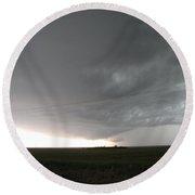 Nebraska Panhandle Supercells Round Beach Towel