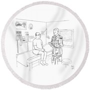 New Yorker July 7th, 2008 Round Beach Towel by Paul Noth