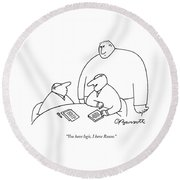 You Have Logic Round Beach Towel by Charles Barsotti