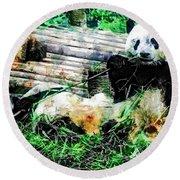 3722-panda -  Plein Air 1 Sl Round Beach Towel